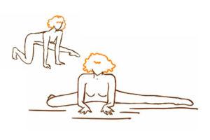 Раскрытие тазобедренных суставов