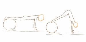 Упражнение для пресса с фитболом